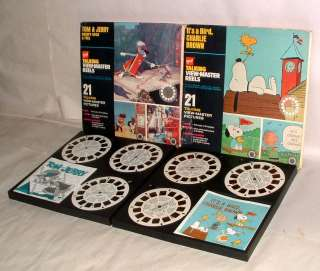 TALKING VIEW MASTER REELS CHARLIE BROWN & TOM & JERRY MINT IN BOXES