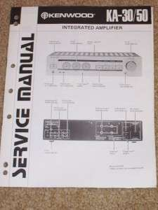 Kenwood KA 30/50 Amplifier Service/Repair Manual/Parts List