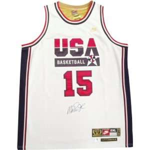 Magic Johnson Autographed 1992 USA Team Nike White Jersey