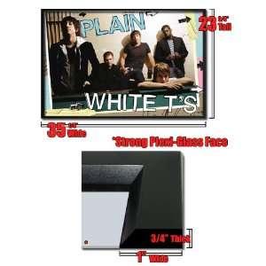 Framed Plain White T S Band Group Wall Poster Fr1354
