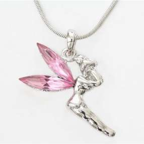 Adorable Girls Fairy Crystal Stone Tinkerbell Necklace GIFT U PICK