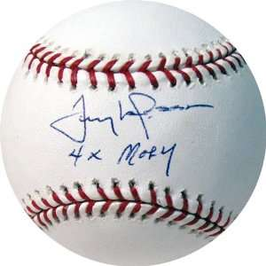 Tony Larussa Baseball with 4Xmoy Inscription