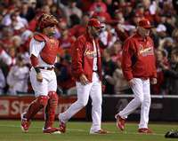 Battery and Coach, St. Louis Cardinals, World Series Game 6, 10/27
