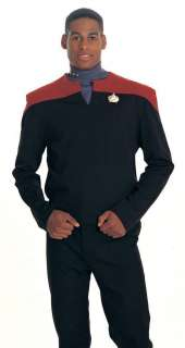 Commander Sisko Deep Space Nine Star Trek Uniform Costume Shirt (Red