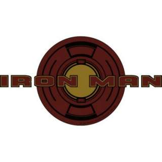 Halloween Costumes Iron Man T shirt Emblems (4 count)