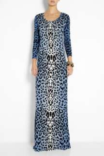 ALICE by Temperley  Blue Renaissance Animal Print Maxi Dress by ALICE
