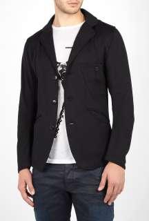 Denham  Black Bonded Sweat Tailor Blazer by Denham