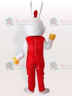 The New Rogge Rabbit Adult Mascot Costume for Sale