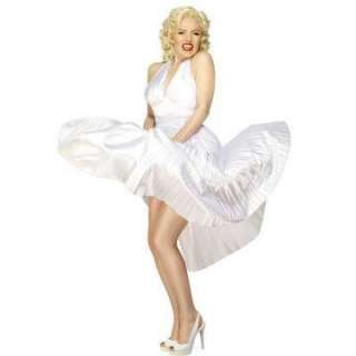 Marilyn Monroe Adult Costume   Includes a white pleated dress only
