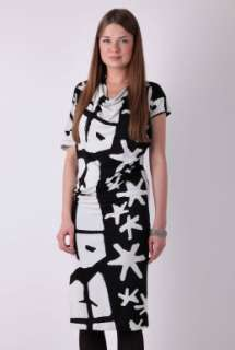 White Ethnic Print Jersey Dress by Vivienne Westwood Angloma   White