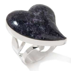 Jay King Purple Lepidolite Sterling Silver Heart Ring