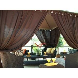 Outdoor Gazebo Patio Drapes Key Lime Sheer (59X84) (2
