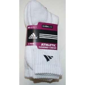 Adidas Womens Climalite Athletic Crew Socks 3 Pair   Size