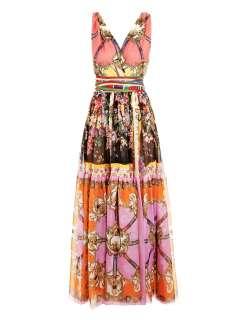 Scarf print maxi dress  D&G