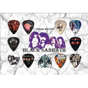 com Black Sabbath Guitar Pick Display   Premium Celluloid Tribute Set