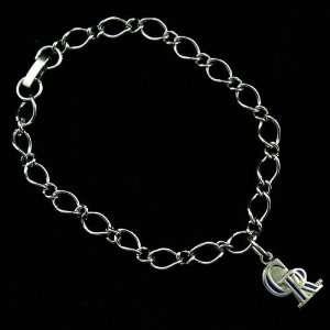 Ladies Silver Tone Charm Bracelet