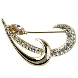 Vintage Gold Tone Finished Grasses Brooch Gifts Pugster Jewelry