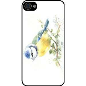 Blue and Yellow Bird Art Rubber Black iphone Case (with bumper) Cover