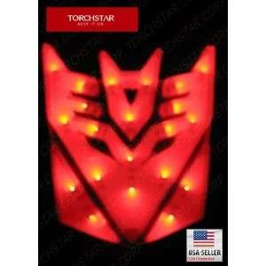 High Light LED Transformers Deception Car Emblem Red