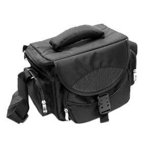 GTMax Black Large Digital SLR Camera and lens Carrying Pouch Nylon Bag