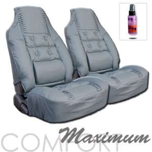 CAR SEAT COVER WITH LUMBAR & SOFT CUSHION Covers  Grey with Purple