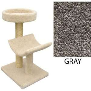 Two Level Cat House  Cradle & Perch   Gray (Gray) (37H x