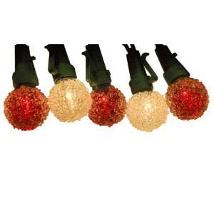 Good Tidings 3199012 Sugar Globe Christmas Light set with 35 Red and