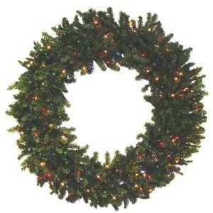 Pine Artificial Christmas Wreath   Multi Lights