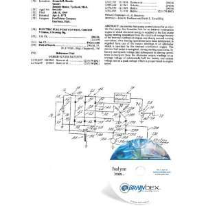 NEW Patent CD for ELECTRIC FUEL PUMP CONTROL CIRCUIT Everything Else