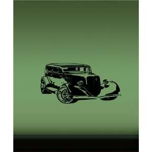 Wall Vinyl Sticker Decal Mural Classic Old Muscle Car Hot Rod T53