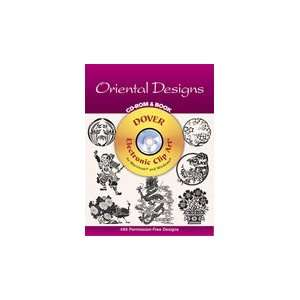 Dover Clip Art Cd/Book Oriental Designs Arts, Crafts