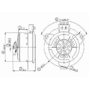 630610 Chrysler/Dodge Replacement Radiator/Condenser Cooling Fan Motor