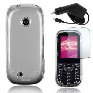 LG Cosmos 2 VN251   Clear Crystal Hard Plastic Skin Case