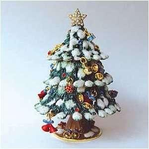 Tree Box Swarovski Crystals 24K Gold Jewelry Trinket Box F Jewelry