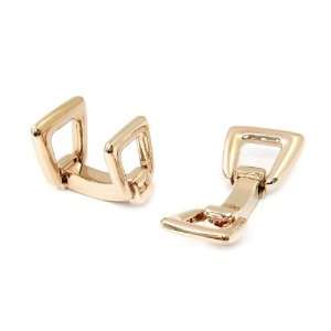 Stirrup Style Cufflinks in Rose Gold Cuff Daddy Jewelry