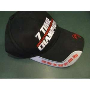 Dale Earnhardt Sr #3 Seven Time Champion Black With Silver Accents Hat