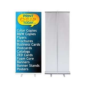 33.5 Retractable Banner Stand with Printed Banner Office