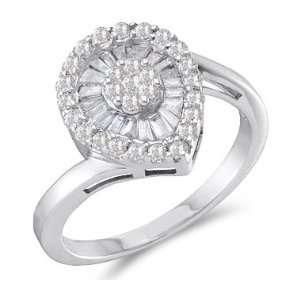 Diamond Ring Anniversary Fashion Band 14k White Gold (3/4 CTW), Size 7