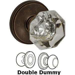 Double dummy victorian clear glass knob with cambridge