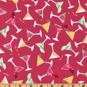 44 Wide Muffintops Summer Drinks Hot Pink Fabric By The