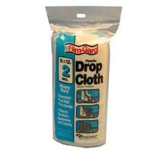 Gard 2.0 Mil Heavy Duty Plastic Drop Cloth 9x12
