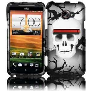 White Cross Skull Design Hard Case Cover for HTC Evo 4G