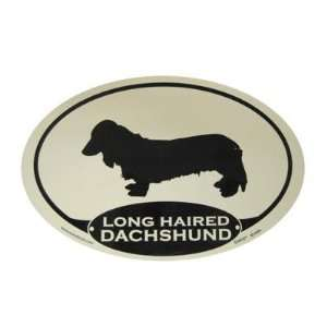 Euro Style Oval Dog Decal Dachshund Long Haired  Pet