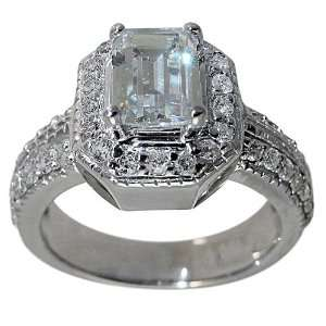 Diamond Engagement Ring With GIA CERTIFIED F VS1 .90ct Emerald Cut