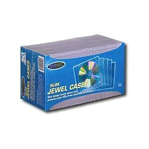 Clear Slim Jewel CD DVD Disk Cases, 50 Pack Electronics