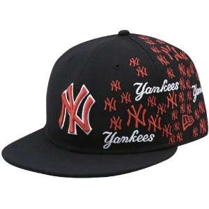 New Era New York Yankees Black Mini Logo Fitted Hat