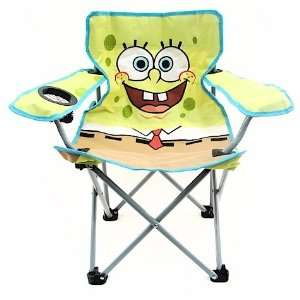 Folding Chairs on Kids Spongebob Square Pants Folding Camping Chair  Home   Kitchen