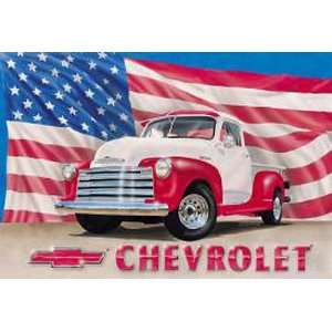 Automotive Chevrolet Metal Tin Sign Chevy 51 Pickup