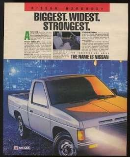 1987 Nissan Hardbody Pickup Truck Print Ad (9206)