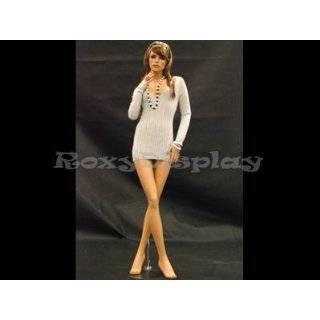 (MD FR11) Realistic Female Flesh Tone Fiberglass Mannequin